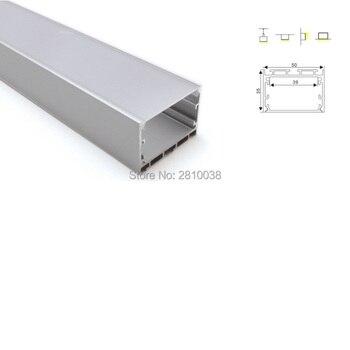 10 X 2M Sets/Lot Office lighting aluminum profile for led stripes Big U size aluminium housing hanging lights