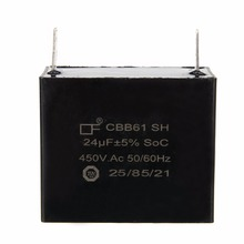 1pc Mayitr Stable CBB61 Capacitor 24uF 24MFD 450V AC 50/60HZ Fits 400/350/300/250VAC UL/RU Capacitors for Generators