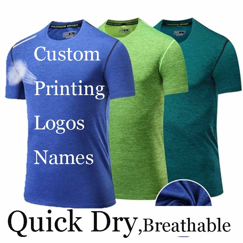 2ae7cfa43 Quicky Dry T shirt Custom Printing Embroidery personalized T-shirts Heat  Transfer Print Customized Made T-Shirt Tee Design