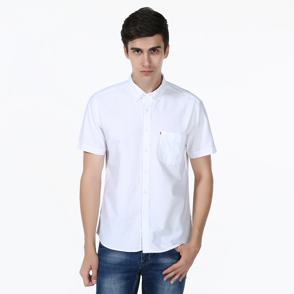 Shirt design brands - Summer Casual Shirts Men Brand Design Shirt High Quality Cotton Men S Clothes Short Sleeves Solid Color Shirts For Men