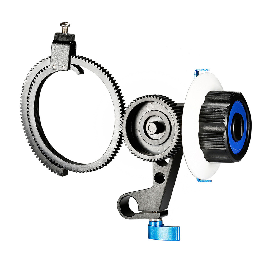 Neewer Follow Focus with Single 15mm Rod Clamp,Adjustbale Gear Ring Belt for DSLR Cameras DV Camcorder Film Video Cameras neewer follow focus with gear ring belt for canon and other dslr camera camcorder dv video fits 15mm rod film making system