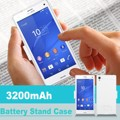 10 pcs 3200 mah backup externo carregador de bateria power bank com tampa stand case para lg g3