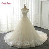 TaooZor Vestido De Noiva Sexy Boat Neck A Line Wedding Dresses 2018 Short Sleeve Vintage Bridal