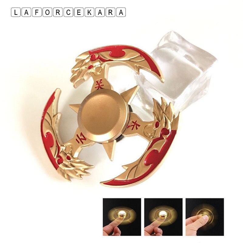 Nieuwe Gouden Guan Yu Metalen Fidget Spinner Zinklegering Gyro Rotary Edc Hand Spinner Voor Autisme En Adhd Focus Stress Vinger Tip Speelgoed