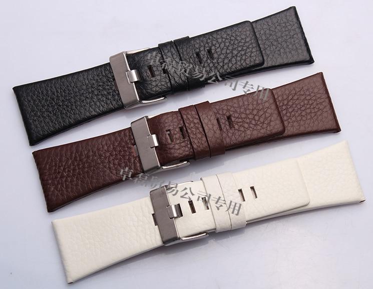Hot New High Quality Black Brown White Genuine Leather Watch Bands Strap Bracelets 22mm 24mm 26mm 28mm 30mm все цены