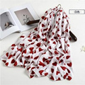 2016 Lovely women twill cotton scarf love heart pattern printing scarves autumn and winter fashion elegant scarves
