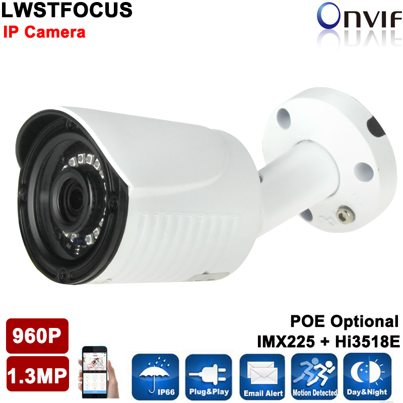 LWSTFOCUS Metal Housing 1.3MP 960P IP Camera IR Cut Day/Night Vision Outdoor Waterproof Bullet Camera Surveillance CCTV Camera cctv camera housing metal cover case new ip66 outdoor use casing waterproof bullet for ip camera hot sale white color wistino