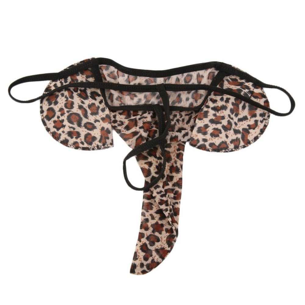 ملابس داخلية شبكية للرجال على شكل فيل بخيط g ملابس داخلية مثيرة على شكل الفهد لون أسود وأحمر ملابس داخلية على شكل كيس للقضيب ملابس داخلية بكيني للرجال المثليين