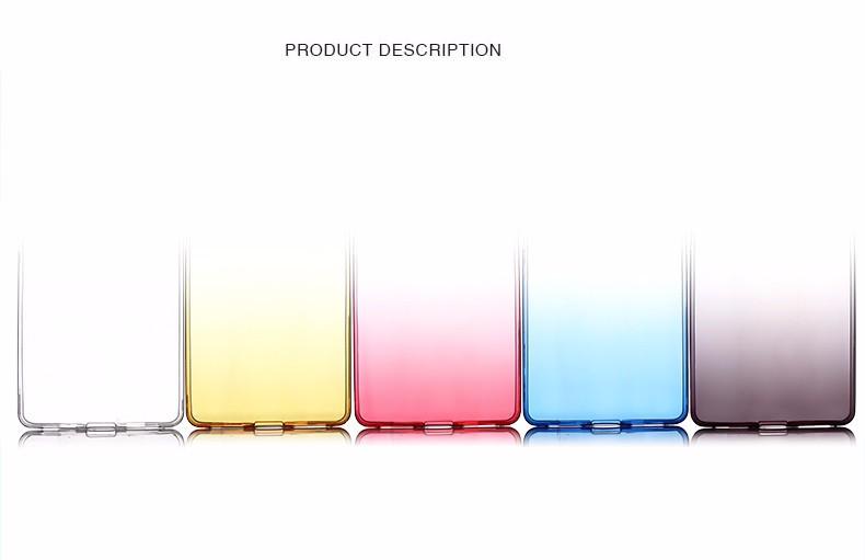 Ultra-cienki przezroczysty miękka tpu case dla huawei p8 p9 plus p8 lite krzemu gradientu telefon ochronna pokrywa dla huawei p9 Shell 7