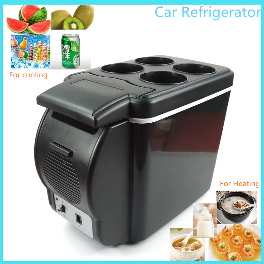 6L Mini Car Fridge Cooler Warmer Auto Travel Refrigerator Warming Machine Portable Multi-Function Household Food Preservation