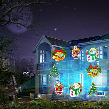 Christmas Projection Lights.Water Wave Projection Light Storm Snowflake Film Christmas Projector Lights Lawn Light With 12 Patterns For Halloween Birthday