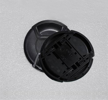 10pcs/lot 49 52 55 58 62 67 72 77 82mm center pinch Snap on cap cover Logo for nikon/canon camera Lens Free ship with tracking