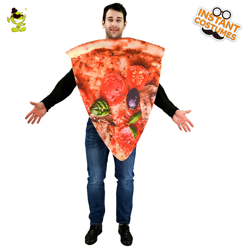 Pizza Slice Food Unisex Adult Costume Pizza Sandwitch Role Play Fancy Dress For Halloween Carnival Party Emotion Emoji Jumpsuit