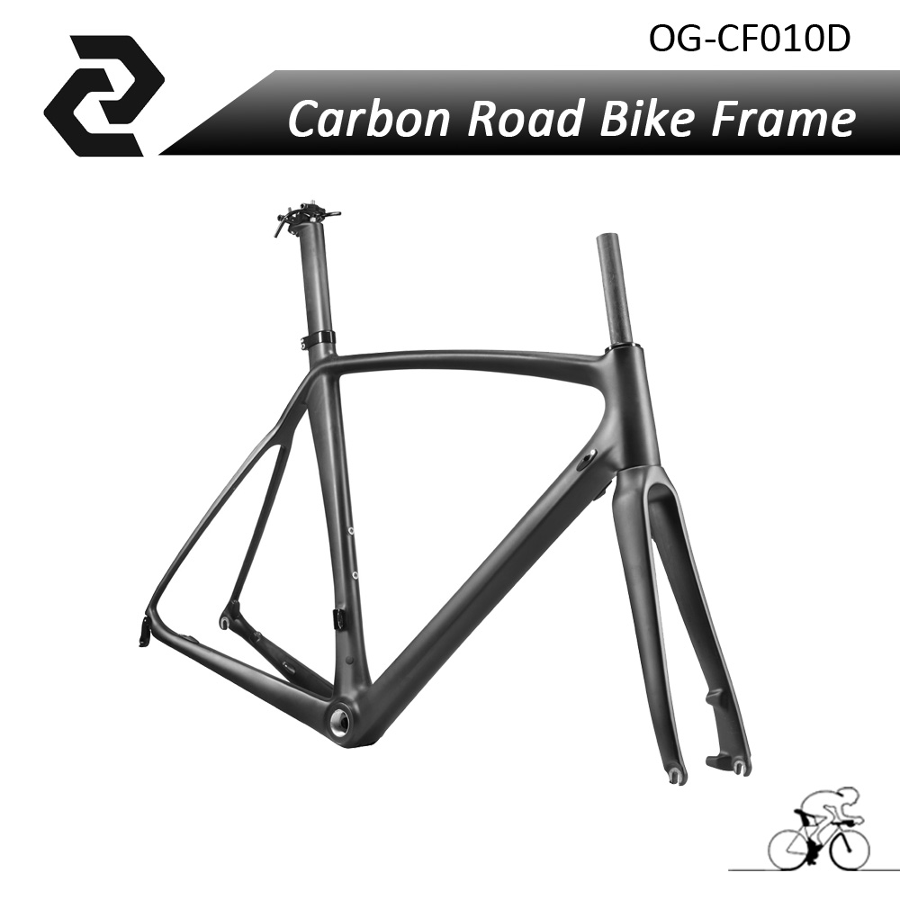 Light Weight Full Carbon Fiber Cycling Ciclismo <font><b>Frame</b></font> Road <font><b>Bike</b></font> Bicycle Frameset Fork Seatpost Size 56CM UD Matt BB68 Disc Brake