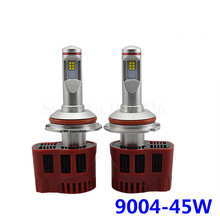 2pcs P6 9004 Car LED Headlight  Hi/Lo Beam 90W 9000lm LED Auto Headlamp Kit  DC11-30V  Car LED Bulbs 3000K 4000K 5000K 6000K