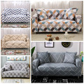 All-inclusive Flexible Sofa Cover For Living Room Elastic Stretch Modern Geometric Printing Couch Cover Slipcovers cubre sofa