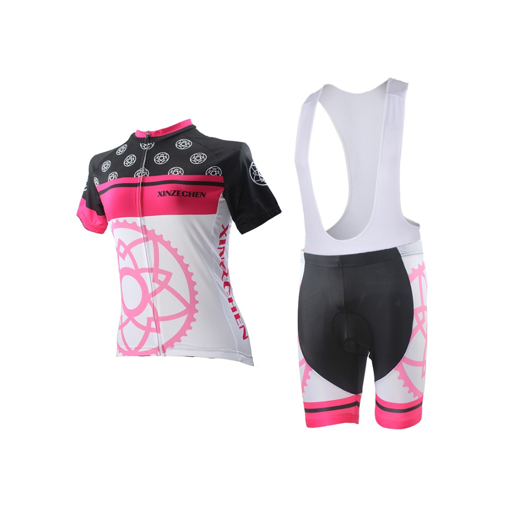 ae1152c4f New XINZECHEN Women Cycling Clothing Suits Bicycle Jersey Bib Shorts Sets  Great gear flower Bike Shirts Top Girls Wear Jersey-in Cycling Sets from  Sports ...