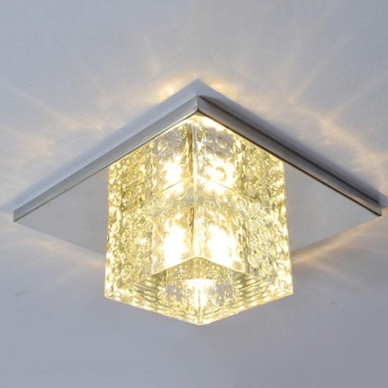 5 Вт Новый современный светодиодный хрустальный потолочный светильник для коридора, двери, входные огни, балконные светильники, потолочное освещение для гостиной|Потолочные лампы|   | АлиЭкспресс