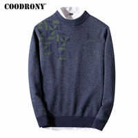 COODRONY Christmas Sweaters For 2017 Winter Thick Warm Cashmere Sweater Men Soft Merino Wool Pullover Men