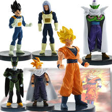 Conjunto 6 pcs Dragon Ball Action Figure Collectible Modelo Toy Anime Dragonball Z DBZ Joint Movable Toy Dragonball(China)