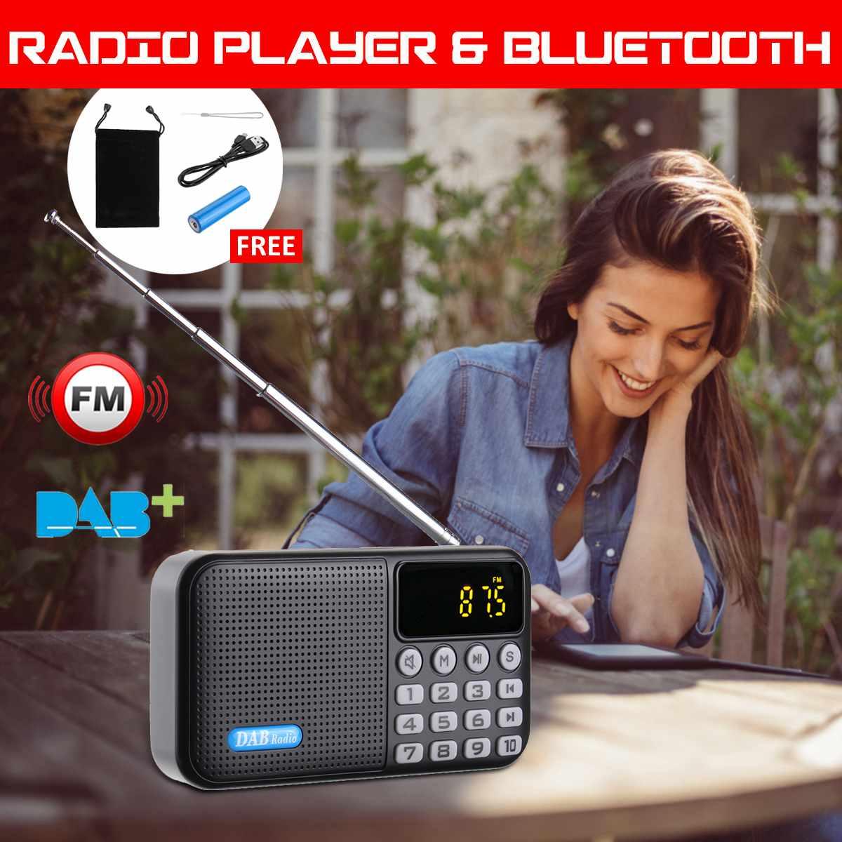 Digital DAB DAB+FM Radio Player Receiver With bluetooth Stereo Speaker Portable Outdoor FM Receiver Elder Christmas Birth Gift