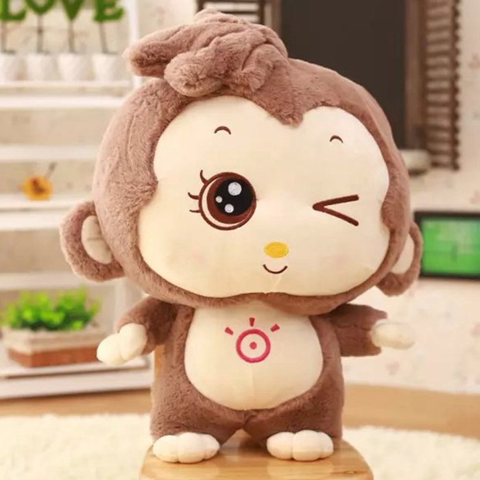 2017 new stuffed toys 40cm lovely monkey plush kids toys doll kawaii stuffed monkey big eye valentine day brinquedos hot sale