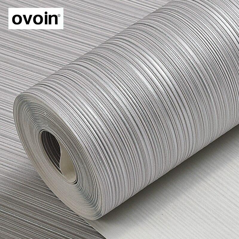 Metallic Silver Gray Vinyl Textured Wallpaper Beige Background