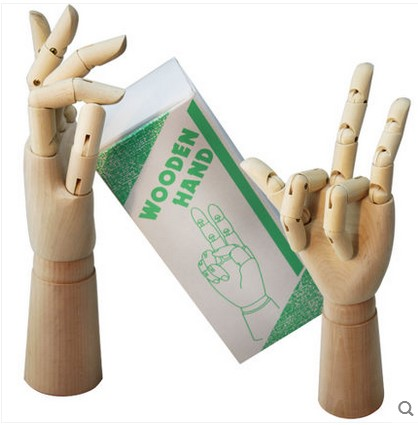 12 inch 30cm lardge wooden hand model Comic&Sketch cartoon male wooden hand articulated movable hand art supplies new 1pc right left hand wooden model sketching drawing jointed movable fingers mannequin