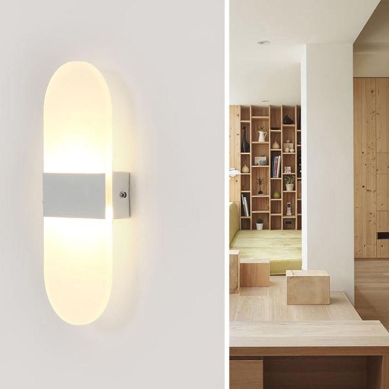HTB1dyZDQVXXXXbwXXXXq6xXFXXXd - Acrylic LED Wall lamp 3W 5W 6W Modern Bedroom Bedside decoration wall sconces light for home stairs loft LED light indoor decor