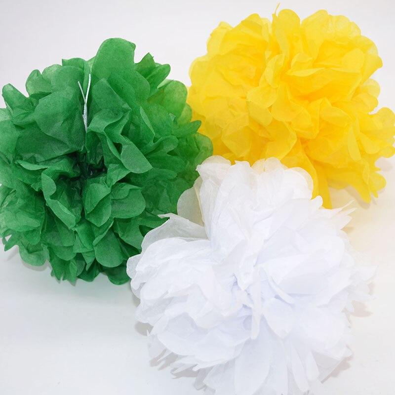 1pc 4 12inch Tissue Paper Pompom Pom Poms Wedding Decoration Diy Paper Flower Balls Baby Shower Birthday Party Crafts Supplies Best Discount 11 11