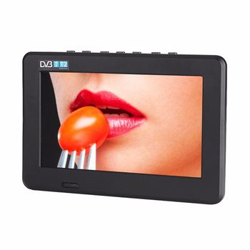 Eu Plug Portable Digital Hd Led Tv 800X480 7 Inch Car Television Receiver Dvbt2 Tv Support Tf Card Usb Audio Video