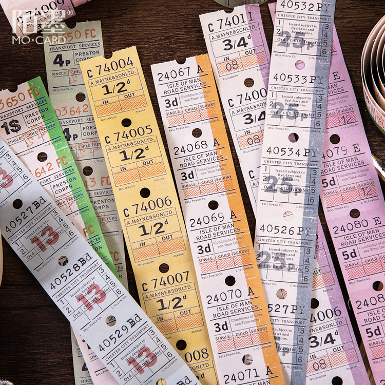 3 Cm Wide Vinatge England Ticket Washi Tape Adhesive Tape Diy Scrapbooking Sticker Label Masking Tape