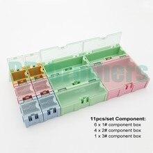 11 шт./компл. Компонент storage box IC Компоненты Коробки SMT SMD Вэнь Тай (1 #2 #3 #) коробки Комплект 100 компл./лот