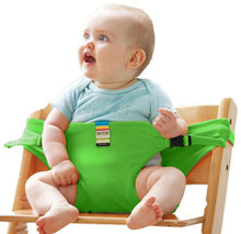Baby Chair Portable Seat Dining Lunch Chair Seat Safety Belt Stretch Wrap Feeding Chair Harness Baby Booster Seat(China)