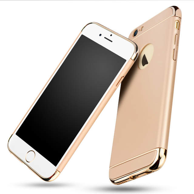 2fe884131d5 placeholder for iPhone 6s case Luxury Black Matte Hard 360 Full Protection  Case For iphone 6 6S