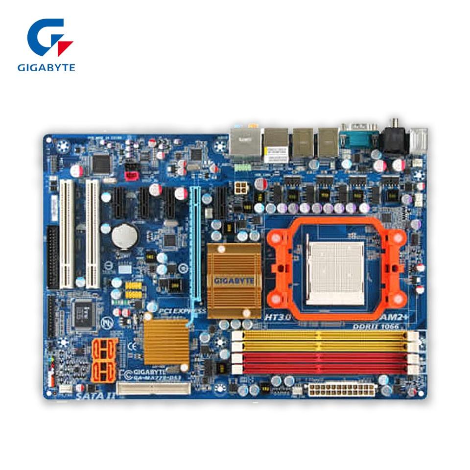 Gigabyte GA-MA770-DS3 Original Used Desktop Motherboard MA770-DS3 770 Socket AM2 DDR2 SATA2 USB2.0 ATX original for ga ma78lm s2 desktop motherboard 940pin am2 am3 ddr2 100% tested