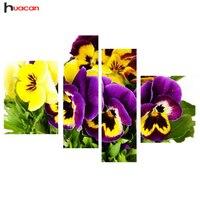 HUACAN Gelbe Orchidee Diamant Malerei Voll Platz Blume Diamant Stickerei Kreuzstich Muster Freunde Geschenke Wohnkultur