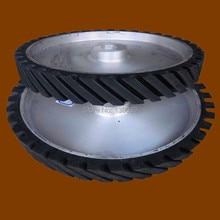 300*50*25mm Grooved Rubber Wheel Belt Sander Polisher Wheel for Sanding Belt 100 100mm grooved rubber wheel belt grinder part