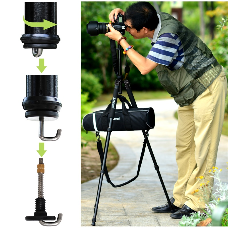 Zomei Z888C Professional Portable Carbon Fiber Tripod Stand with Ball Head Compact Travel -11