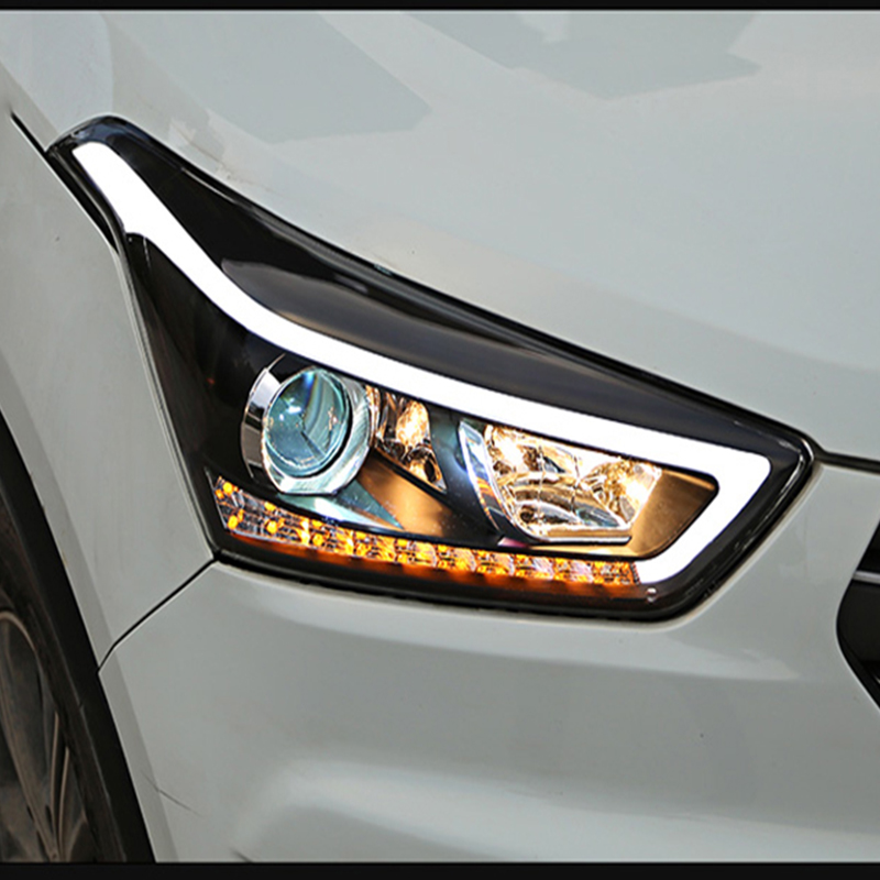 Car Styling Head Lamp For Hyundai Creta IX25 2015 2016 2017 Headlights LED Dynamic Turn Signal Light LED DRL Bi Xenon Low Beam-in Car Light Assembly from Automobiles & Motorcycles    1