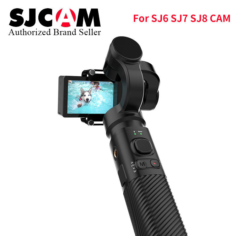 SJCAM Accessories SJCAM SJ8 Series SJ7 STAR SJ6 legend Handheld 3-Axis Gimbal 2 Stabilizer monopod for sj SJ8 plus pro yi 4k cam sjcam 2 in 1 car kit for sj6 legend sj7 star sj360