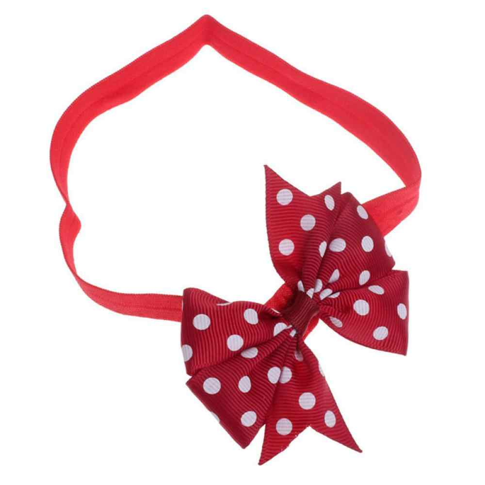 1PC Newborn Baby Kids Girl Headband Infant Toddler Bowknot Dots Ribbon Hairband Headband Children Fashion Hair Band Accessories