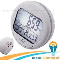 Углекислого газа регистратор качество воздуха в помещении Мониторы Температура влажность 9999ppm co2 Сенсор RH часы