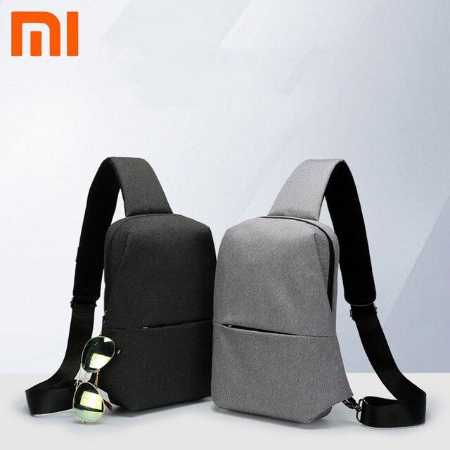 Original Xiaomi Mijia กระเป๋าเป้สะพายหลังสลิงกระเป๋า Chest Pack ขนาดเล็กประเภทไหล่ Unisex Rucksack Crossbody กระเป๋า 4L โพลีเอสเตอร์