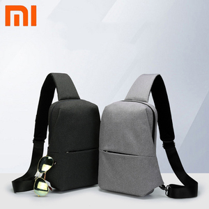 Image 1 - Original Xiaomi mijia Backpack Sling Bag Leisure Chest Pack Small Size Shoulder Type Unisex Rucksack Crossbody Bag 4L Polyester
