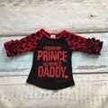 baby girls cotton raglans I found my Prince his name is Daddy raglans children heart sleeve raglans kids casual raglans