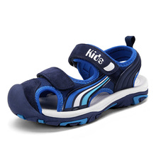 Boys sandals 2019 new summer big childrens boys non-slip students soft bottom sports baotou beach shoes