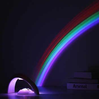 LED coloré arc-en-ciel lampe LED veilleuse romantique arc-en-ciel projecteur lampe de Projection universelle Portable décor à la maison