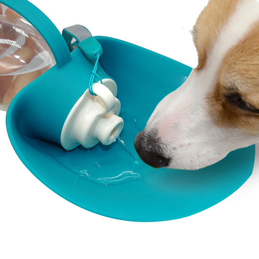 Portable Dog Water Bowl >> 650ml Portable Dog Water Bottle Silicone Pet Water Dispenser