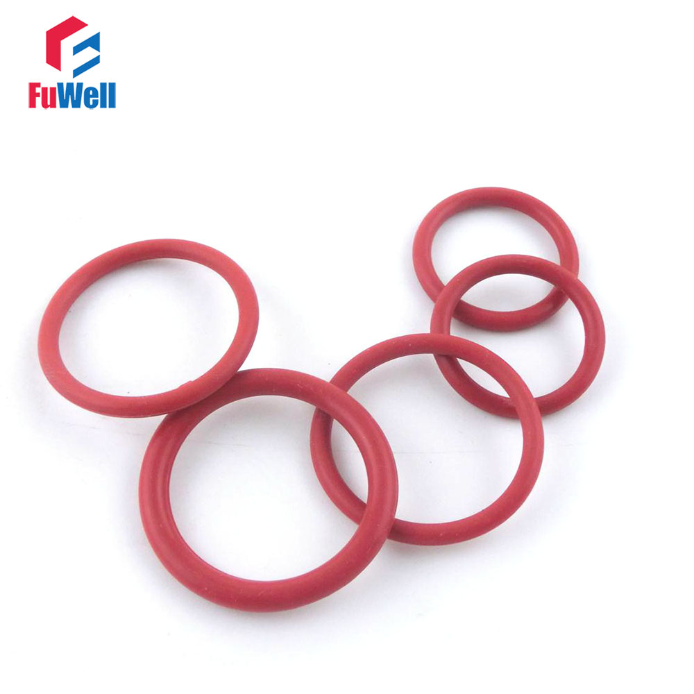 200pcs thickness silicon o ring sealing 17 18 19 20 21 22 23 24 25 26mm od red rubber o. Black Bedroom Furniture Sets. Home Design Ideas